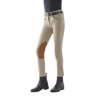 Tailored Sportsman The Girls' TS Trophy Hunter Front-Zip Breech, Size 14, Tan ()