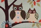 Jellybean Patchwork Owls Rug