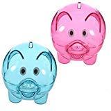 Clear Plastic Piggy Bank - Feeko Piggy Bank, 2 x Transparent