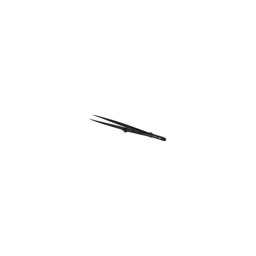 Dumont Fine Tip Locking Diamond Black Tweezer With Serrated Jaws by US Gift