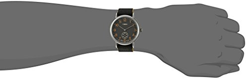 a4ad3f45f Timex Weekender Oversized | Black Multi-Dial & Leather Strap | TW2P97500