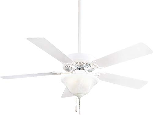(Minka Aire F548L-WH Contractor Uni-Pack 52'' Ceiling Fan with LED Light, White)