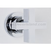 Rohl BA31X-STN/TO ROHL MODERN ARCHITECTURAL CONCEALED WALL VALVE 3/4^ NPT VOLUME FLOW CONTROL TRIM SET ONLY IN SATIN NICKEL WITH CROSS HANDLE MDRN CONC.WL VLV TRM X-H S.NK