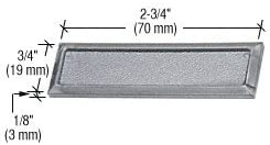Bulk 100 Pack CRL Black Color Showcase Stick-On Finger Pulls