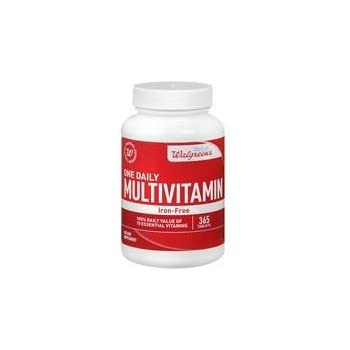 Walgreens One Daily Multivitamin without Iron, Tablets, 365 ea
