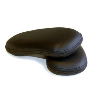 Herman Miller Replacement Arm Pads for Classic Aeron Office Chair, Black Leather (2-Pack)