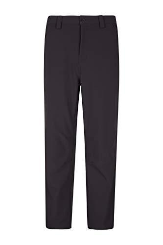 Mountain Warehouse Hike Mens Short Trousers - Warm Stretchable Pants Black 40
