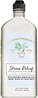 Bath and Body Works Aromatherapy STRESS RELIEF - SAGE + CEDARWOOD Body Wash and Foam Bath 10 Fluid Ounce ()