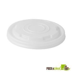 Packnwood PLA Plastic Lid for 8 oz. Paper Soup Cups (Case...