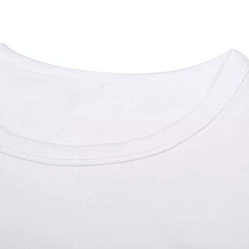 Pervobs Men's Basic White T-Shirt Spring Summer Personality Printing Sleeve O-Neck Short T-Shirt Top Blouse Regular Fit(M, White B) by Pervobs Mens T-Shirts (Image #5)