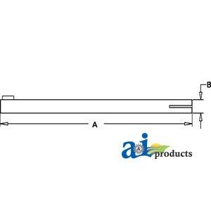 AM524T A-AM2795T John Deere Tractor Tie Rod Tube Part No