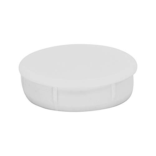 "Rok Hardware 35mm (1-3/8"") Plastic Hole Plug, White, 10 Pack ROKHP35WH"