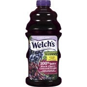 Welch's Juices Black Cherry Concord Grape 100% Juice, 64 Fl Oz(Pack of 4) by Welch's