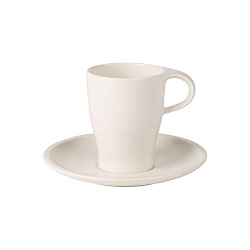 Coffee Passion Coffee Mug & Saucer Set by Villeroy & Boch - Premium Porcelain - Made in Germany - Dishwasher and Microwave Safe - 13 Ounce -