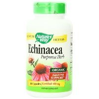 Nature's Way Echinacea Herb, 180 Capsules, 400 (400 Mg Nutrition Herbs)