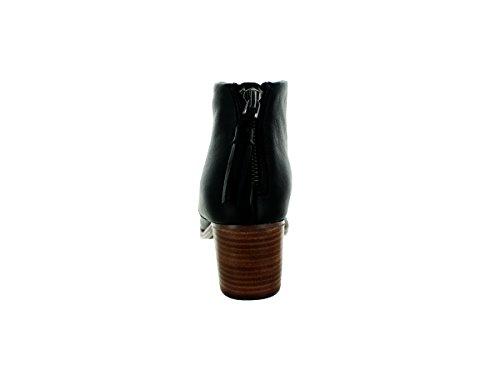 TOMS Womens Leila Boot Black Full Grain Leather 1RpSjC5C5B
