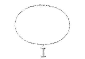 Sterling Silver Initial I Charm Bracelet LoveBrightJewelry BRS84634AGI