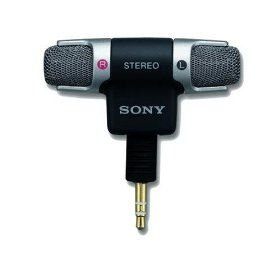 Sony Electret Condenser Stereo Microphone - - Adapter Sony Recording
