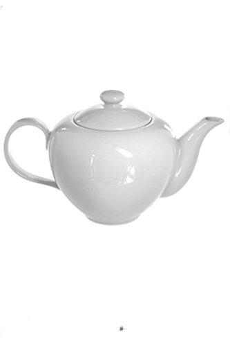 glossy white teapot - 2