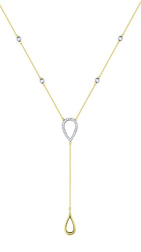 Prism Jewel G-H/SI1 Natural Diamond 17 Inches Light Weight Necklace, 14k Yellow Gold by Prism Jewel