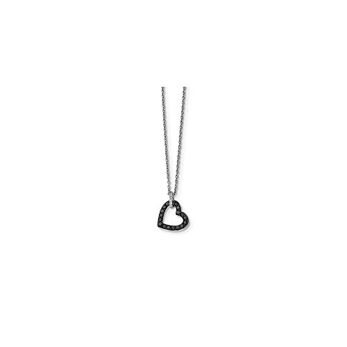 925 Sterling Silver Rhod Plated Black White Diamond Pendant Chain Necklace Charm Fine Jewelry Gifts For Women For Her
