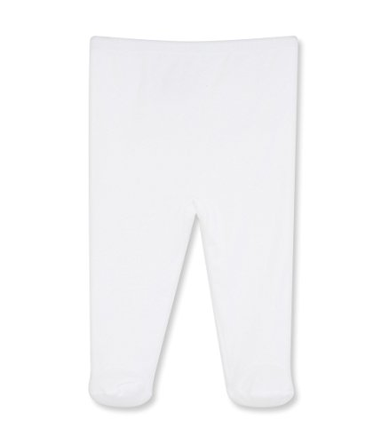Petit Bateau Footed Pant - White-3 Months