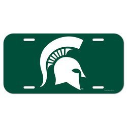 - WinCraft 89354410 NCAA Michigan State Spartans Plastic License Plate, One Size, Team Color