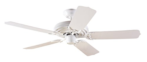 Hunter 23566 Sea Air 52-Inch 5 White Plastic Blades Ceiling Fan, White