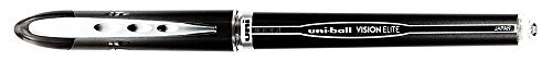 uni-ball : Vision Elite Stick Roller Ball Pen, Black Ink, Super Fine -:- Sold as 2 Packs of - 1 - / - Total of 2 Each