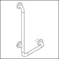 Hafele Bath and Washrooms 988-72-1 ; 988 72 1 Hewi L Shaped Grab Bar A x C-24 inch x 12 inch (Bath Hafele Accessories)