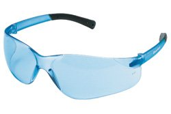 Safety Bearkat Crews Glasses (Crews BK113 Bearkat Safety Glasses Light Blue Frame w/ Light Blue Lens (12 Pair))