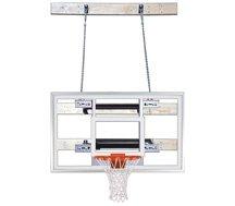 最初チームsupermount46選択steel-acrylic壁マウントバスケットボールsystem44 ;スカーレット B01HC0ETG6