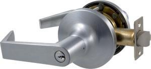 Yale AU5405LN Storeroom/Closet Cylindrical Lever Lock w/ Conventional Cylinder (Cylindrical Lever Conventional Cylinder)
