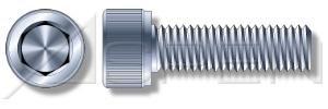 (100 pcs) 3/8''-16 X 3-1/2'', Socket Head Cap Screws, Hex Socket Drive, Standard Head, Alloy Steel, Zinc Plated