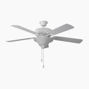 Craftmade DCF52MWW5C1 Decorators Choice 52 inch Matte White Indoor Ceiling Fan in 3, Alabaster Glass (Craftmade Classic Ceiling Fan Light)