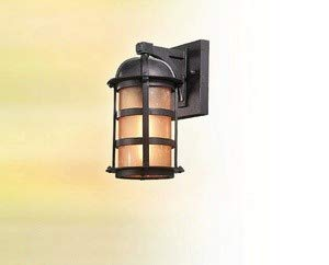 Troy 28955124 Lighting BF9250NB Transitional Aspen Collection in Bronze/Dark Finish 1Lt Wall Lantern Fluorescent Natural 1lt Fluorescent Wall Sconce
