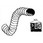 Deflect-o PH45W Vinyl Hose, 4 inch x 5 foot