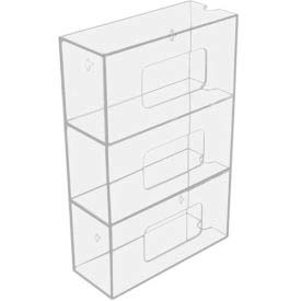 TrippNT153; 50826 Triple Side Loading Acrylic Glove Box Holder, 10