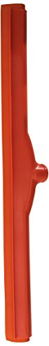 Carlisle 4156824 Spectrum Double Foam Rubber Floor Squeegee with Plastic Frame, 24'' Length, Orange by Carlisle (Image #1)