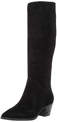 Womens Pointed Toe Boots - Sam Edelman Women's Rowena Knee High Boot, Black Suede, 9.5 M US