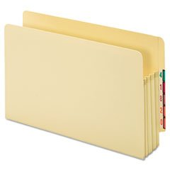 Globe Weis End Tab File Pockets, 22Pt, Lgl, 3-1/2 Exp, 25/Box, Mla