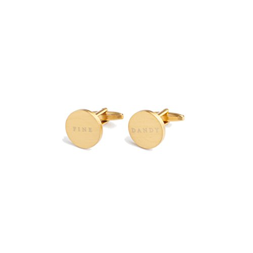 Silver Cufflinks Tiffany - Izola Brass Modern Style Circle Cufflinks Men, Perfect Business Gift