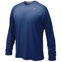 Nike Mens Legend Poly Long Sleeve Dri-Fit Training Shirt College Navy/Matte Silver 384408-419 Size - Legend Fit Dri