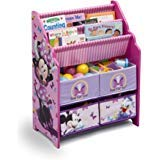 Disney Book and Toy Organizer, Book and Toy Organizer, Kids Book Organizer, Book Rack and Toy Bin, Fabric Storage Bin Bookcase Storage Chest Featuring Minnie Mouse