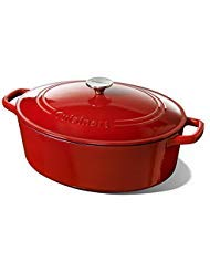 (Cuisinart 7 Quart Oval Casserole, Red Gradient)