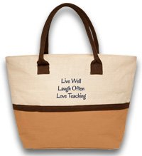 Live, Laugh, Love Teacher Tote Bag - Functional Teacher G...