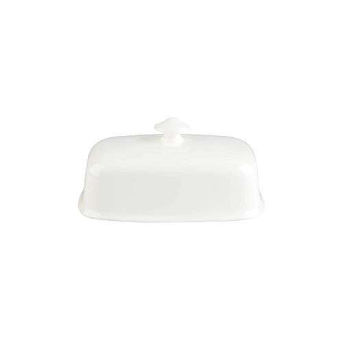 (Villeroy & Boch Royal Butter Dish Cover, Premium Porcelain, White)