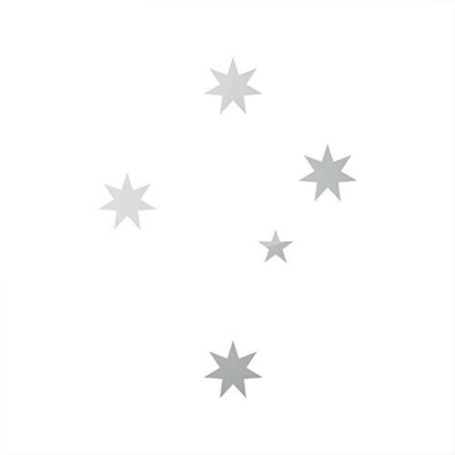 (RDW Metallic Australian Southern Cross Sticker Die Cut crux - Silver)