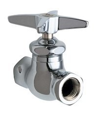 Chicago Faucet Company 45-ABCP Chicago Straight Stop Fitting Lead Free 283650, 4'' Height, 4.625'' Wide, 4.625'' Length, 4 x 4.625 x 4.625