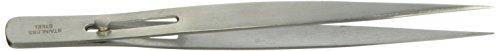 Tamsco Fine Point Slide Lock Tweezers Satin 6-Inch Stainless Steel Fine Point Smooth Tip Slide Lock